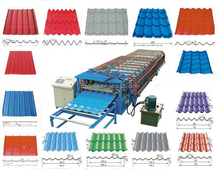 metal roofing galvanized aluminum corrugated steel sheet making machine, colored steel wall roof panel cold roll