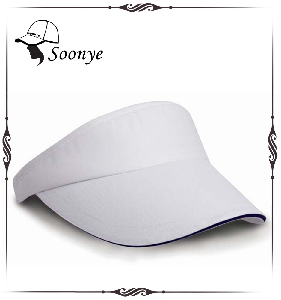 sun visor with sandwich brim and pre-curved brim