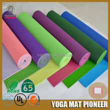 Eco PVC 2 toned yoga exercise mat for yoga and fitness