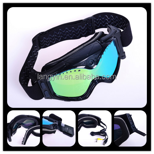 newest ski&moto 1080p wifi goggles Outdoor Sports HD1080P camera video skiing goggles