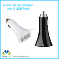 Output 5V 7.2A fast charge 3 ports usb car charger