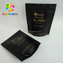 Stand up aluminum foil plastic coffee body scrub packaging bag for bath wash