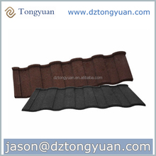 50 years warranty tongyuan Roman High Quality Sand Coated Metal Roofing Tiles, red asphalt roof shingles