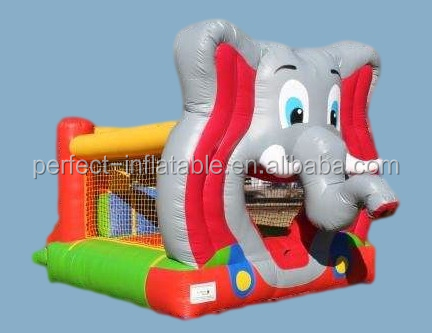 Mega elephant inflatable bounce house for kids, outdoor playground equipment on sale