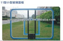 Basketball hoop glass backboard