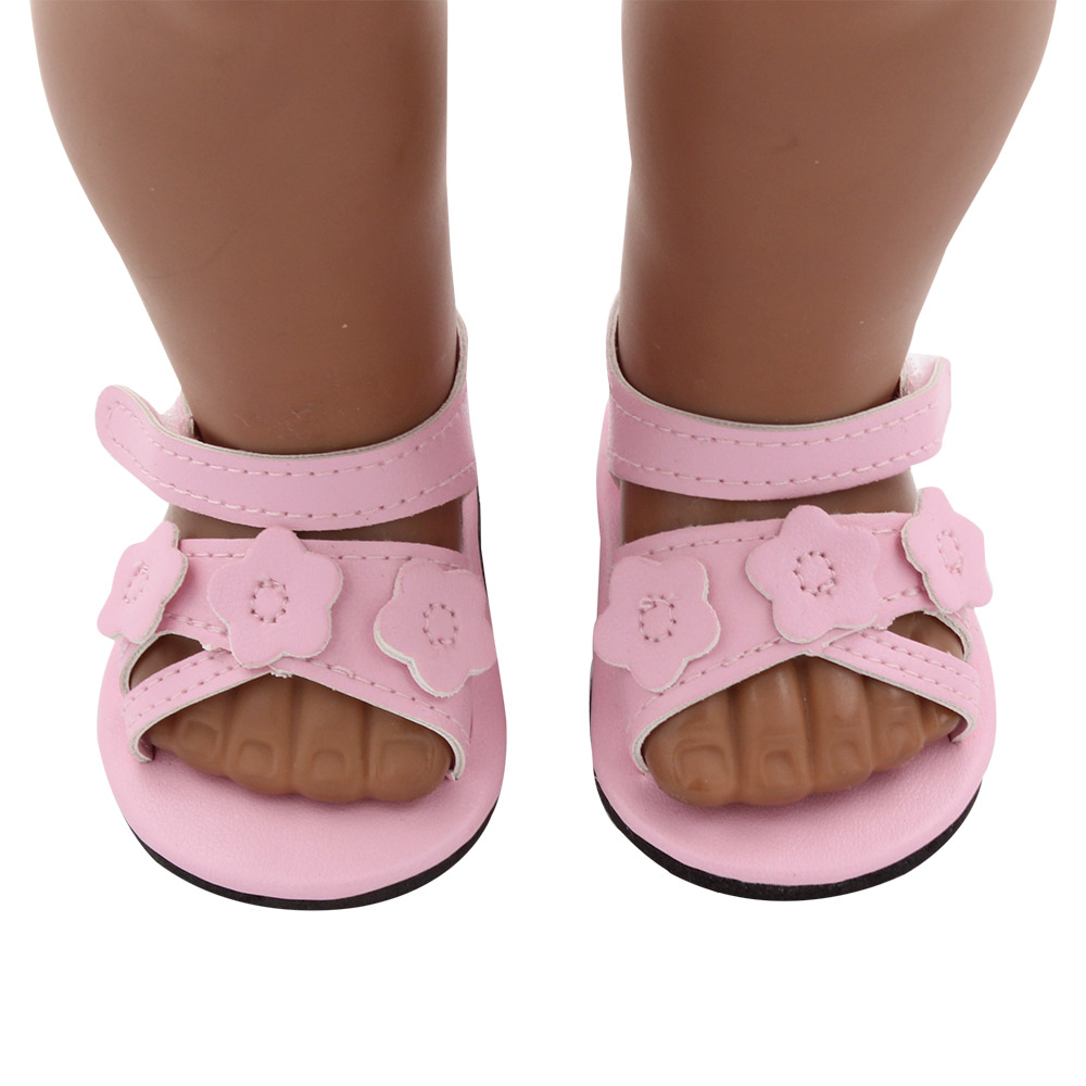 MISU 18inch Pink toy shoes american girl doll shoes