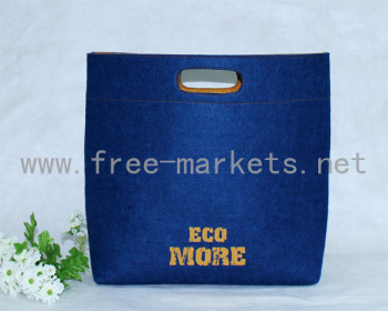 High classed Eco friendly recycled felt men hand bags