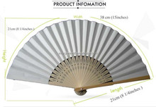 Wholesale White Bamboo paper wedding fan