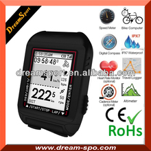 Wireless LCD Cycle Bicycle Bike Computer Meter Odometer Speedometer Black gps mountain bike computer