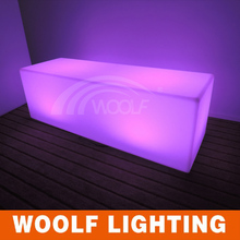 outdoor color changing led plastic benches