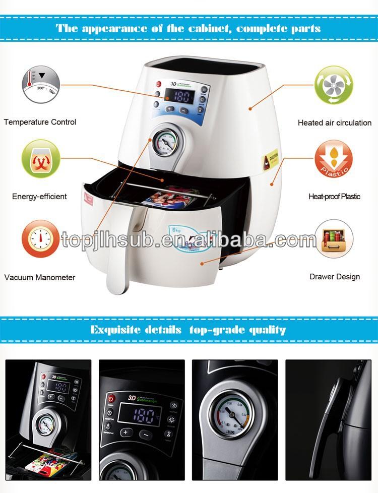 Venda quente Mini 3D vácuo máquina da imprensa do calor
