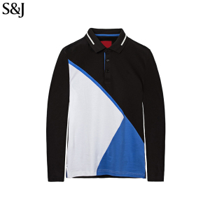 Fashion Golf Blank Men's Long Sleeve Polo T-Shirt