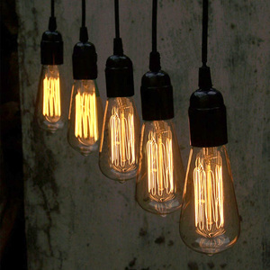 Hot Sell Retro Industrial Hanging Pendant Lighting With Edison Bulb For Restaurant