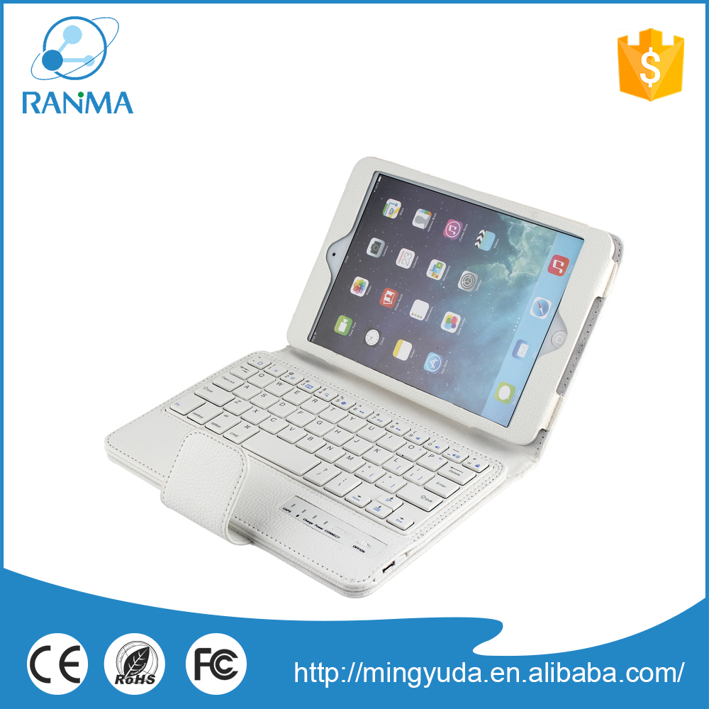 Detachable smart bluetooth stand tablet keyboard case for ipad mini 2