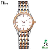 2016 New Arrival Jewelry diamond Wholesale Fashion Lady Watch with solid steel band