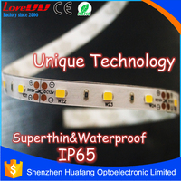 Unique product IP65 superthin 2835 led strip 4.8 watt per meter with 3 years warranty