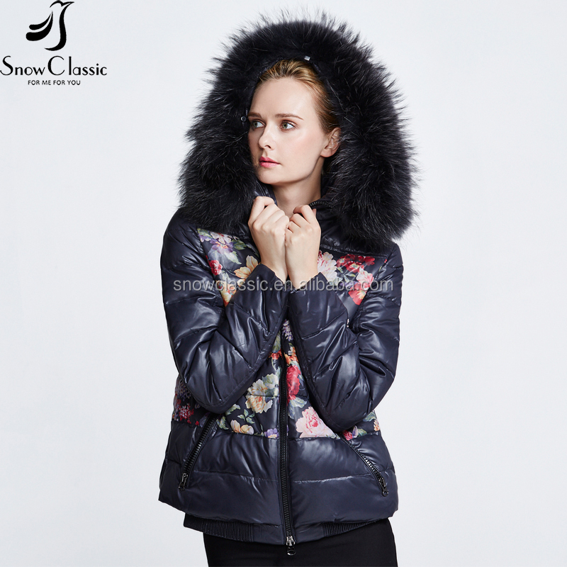 Comfy waterproof ultra light women clothing Removable hood short women duck winter down jacket