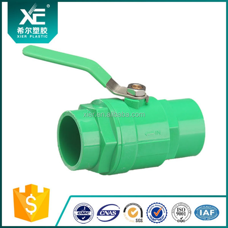 High Quality Plastic PVC 2 Way Two Pieces Ball Valve Manufacture/Copper Handle Two Pieces PVC Ball Valve for Solar Water