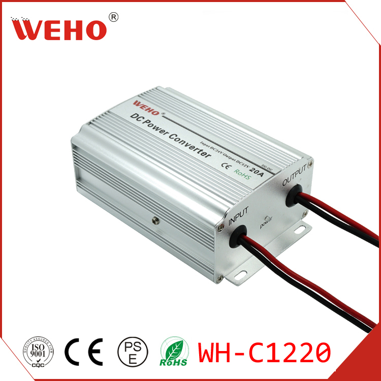 WEHO factory outlet CE Rohs approved 24v to 12v 20a DC/DC converter