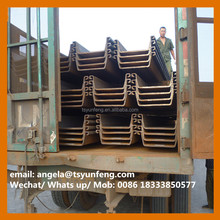 JINXI hot rolled steel sheet pile size of 400*125 with JIS standard BC1:2012