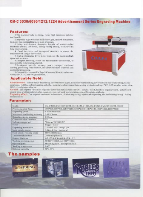 CNC Router/engraving machine