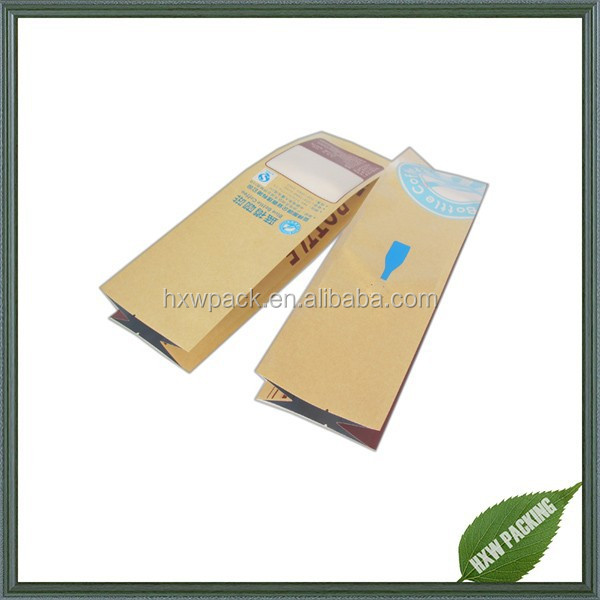 new products custom size kraft paper and foil coffee bags with valve