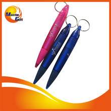 Plastic Ballpoint Pen with Keyring