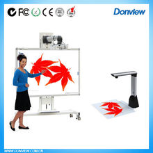 50inch-120inch dual touch hot design smart whiteboard with multilanguage software and pens tray