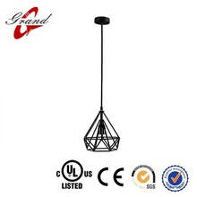 China supplier Wholesale Black Retro Industrial Wrought Iron Lamp Country Style Vintage pendant lamp