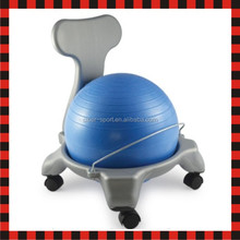 Kid half fit fitness yoga exercise pilates gym balance ball chair