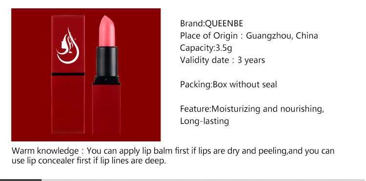 Wholesale waterproof organic matte lip stick custom make your own private label lipstick OEM