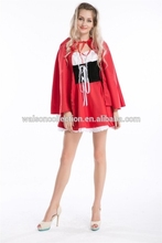 2015 instyles Halloween partyAdult Little Red Riding Hood Fancy Dress Costume Fairy Tale Party Outfit Ladies UK 8 10 12 14 16