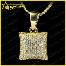 2015 New Hip Hop Pendant Necklace Micro Pave CZ Pendant 18K Gold Plated