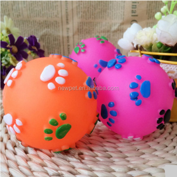 Most popular new products dot squeaky dog toy ball big dog rope toy
