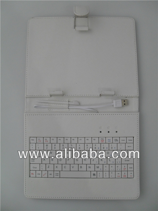 "8"" Universal Tablet Case Cover with Keyboard"
