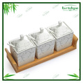 High Quality Spice Holder Modern Kitchenware White Ceramic True Love Spice Holder