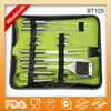 Hot sell 10-piece stainless steel bbq set with apron BT105