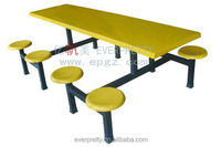 School Furniture Fiber Glass Dinning Room Furniture Table Set Design Tables And Chairs