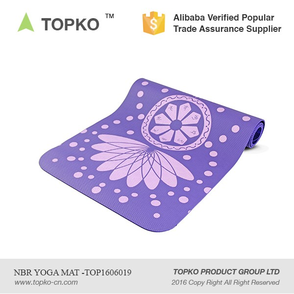 Wholesale Eco-friendly Private Label Screen Print Fitness NBR Yoga Mat