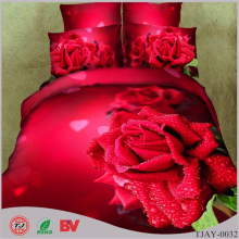 Wholesale China Supplier New Design Super King Size 100% Cotton Wedding Flower Wholesale Price 3D Bedsheet