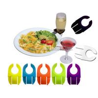 plastic wine glass plate clips