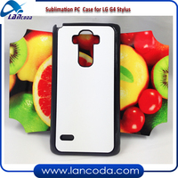 DIY sublimation smartphone case for LG G4 Stylus,with sticker and aluminum sheets