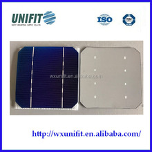 damaged solar cells 125mm 2BB photovoltaic monocrystalline solar cell for sale