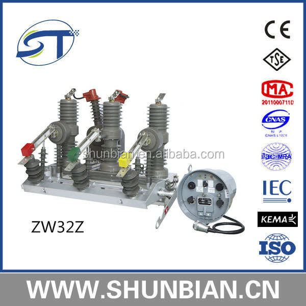 st zw32-24 outdoor high voltage vacuum circuit breaker 24kv 630a vcb