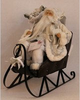 XM-A6028 18 inch christmas decoration outdoor santa in sleigh