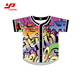 customized all over sublimation digital printing camouflage baseball uniform