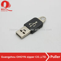 Fashion like USB PVC slider puller for zipper