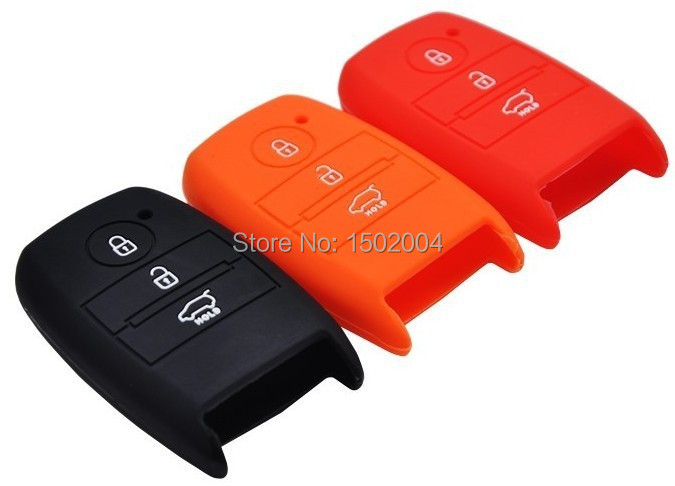 Free Shipping!Silicone Key Case For Kia K2 K3 K5 Forte Sportage SPORTAGER Smart Key Wallet Kia Key Wallet