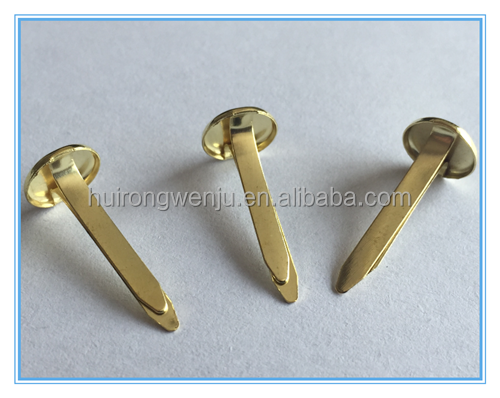 Popular high quality art office brads paper fastener brads manufactures