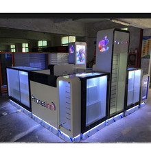 2017 Newest cell phone accessories kiosk with retail mobile phone shop interior design for sale